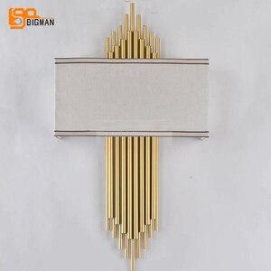 Image 2 - Hoge Kwaliteit Goud Wandlamp Moderne Zwart Wit Wandlampen Voor Home Decor