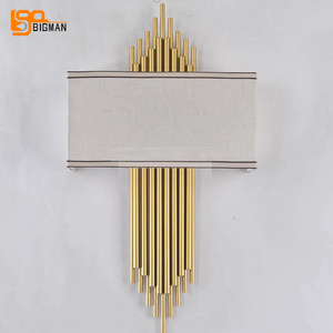 Image 2 - high quality gold wall lamp modern black white wall lights for home decor