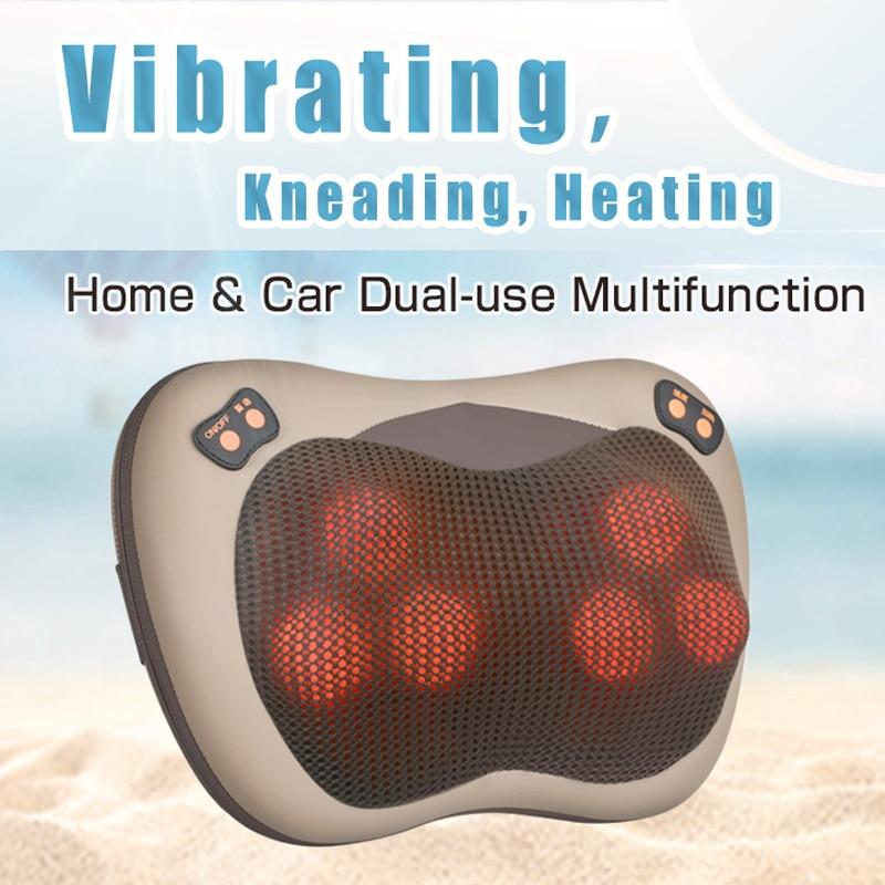 JinKaiRui Vibrant Pétrissage Cou Body Massager Marteau Oreiller Infrarouge Shiatsu Électrique Épaule Massage du Dos Massagem Voiture/Accueil