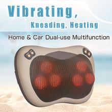 JinKaiRui Vibrating Kneading Neck Body Massager Hammer Pillow Infrared Shiatsu Electric Shoulder Back Massage Massages Car/Home