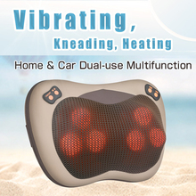 JinKaiRui Vibrating Kneading Neck Body Massager Hammer Pillow Infrared Shiatsu Electric Shoulder Back Massage Massages Car/Home