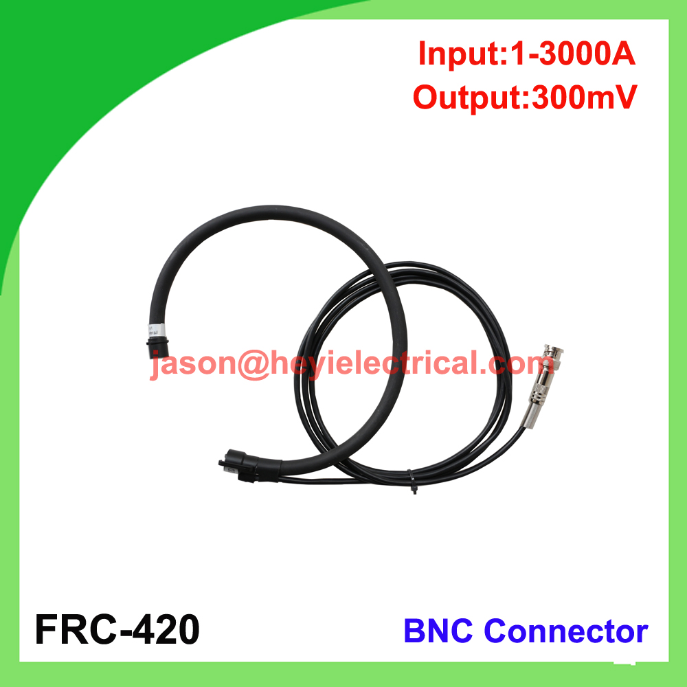 China input 3000A FRC-420 flexible rogowski coil with BNC connector output 300mV clamp on current transformer input 5000a frc 600 flexible rogowski coil with bnc connector output 500mv split core current transformer
