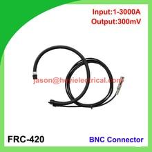 Фотография China input 3000A FRC-420 flexible rogowski coil with BNC connector output 300mV clamp on current transformer