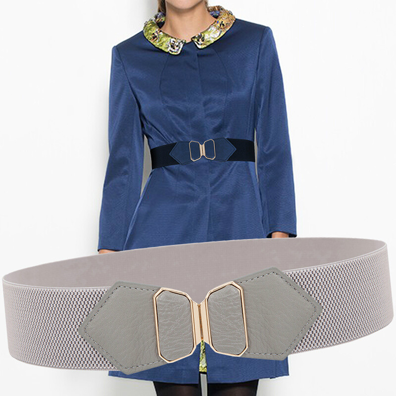 5CM Wide Summer Fashion Butterfly Shape Decoration Buckle Waist Sealings PU Leather Elastic Tight Elegant Style Women Belts