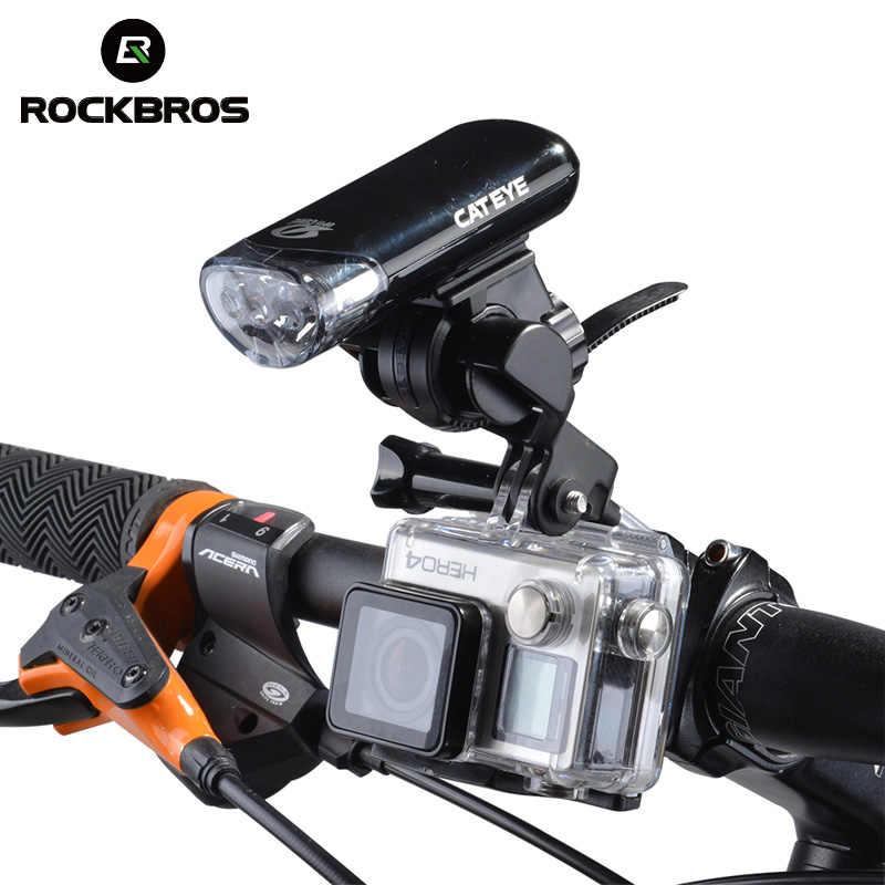 ROCKBROS, велосипедный руль, расширенный кронштейн, многофункциональный велосипедный светильник, крепление для лампы, держатель для компьютера, велосипедная Рама, расширитель
