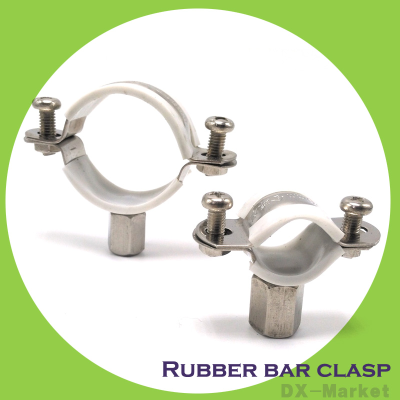 20mm-65mm , 304 stainless steel pipe clamp , rubber lathedog core-tube anchor ear steel pipe clamp 35mm 110mm 304 stainless steel saddle clamp antirust cable clip water pipe fixing bracket clamp