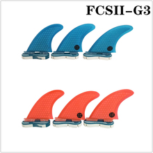 Surf Fins FCS2 G3 Red/Blue Surfboard Honeycomb Tri fin set fcs Fibreglass