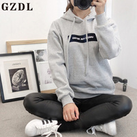 GZDL 2017 Spring Gray Pink Women Casual Full Sleeve Plus Size Pullover Hoodies Sweatshirts American Apparel