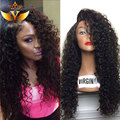 Kinky Curly Synthetic Wig For Black Women High Quality Heat Resistant Fiber Afro Curl Kinky Curly Synthetic Lace Front Wig Cheap