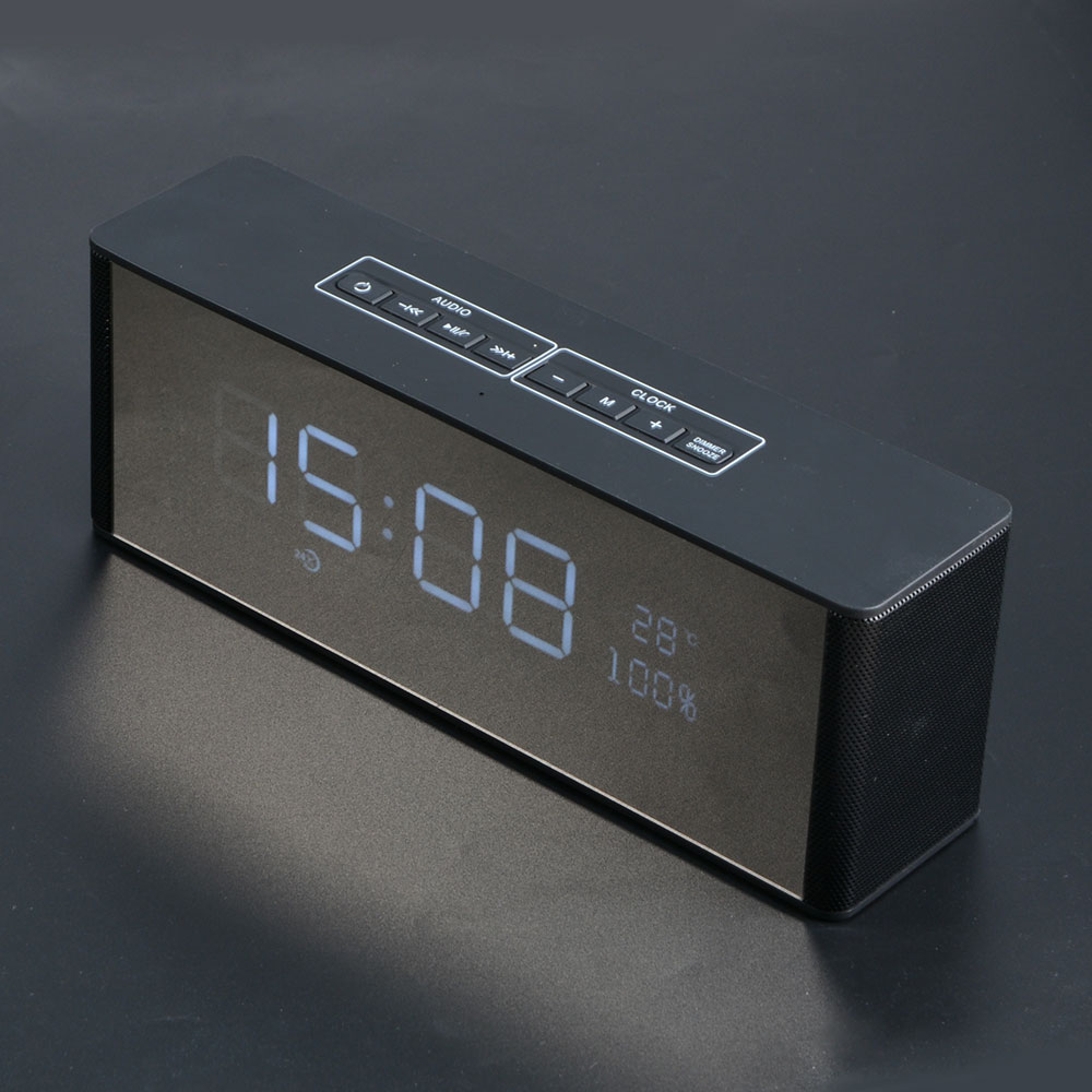 Portable Speaker Smart LED Alarm Clock Radio Stereo