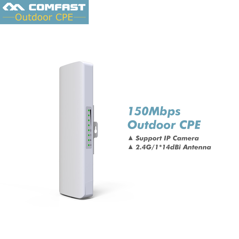 2km Long Range 2.4Ghz 150Mbps Wireless Router Outdoor CPE wifi Bridge High Power Wireless wifi CPE 14dBi Antenna 48V POE Adapter 98000g high power 150mbps wifi adapter password cracking internet long range 2000mw dual aerial usb wifi adapter decoder 1set