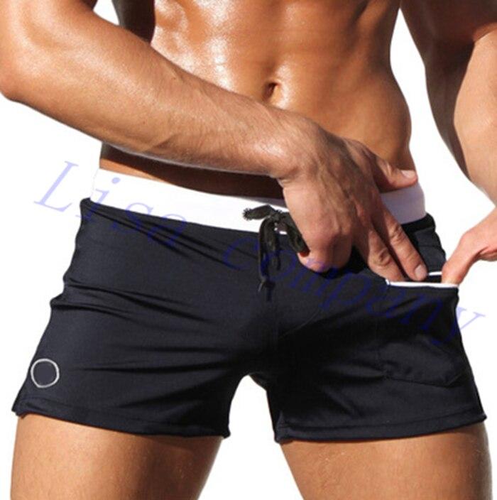 venta caliente hombre adulto nuevo color sólido de natación de verano cinco pun