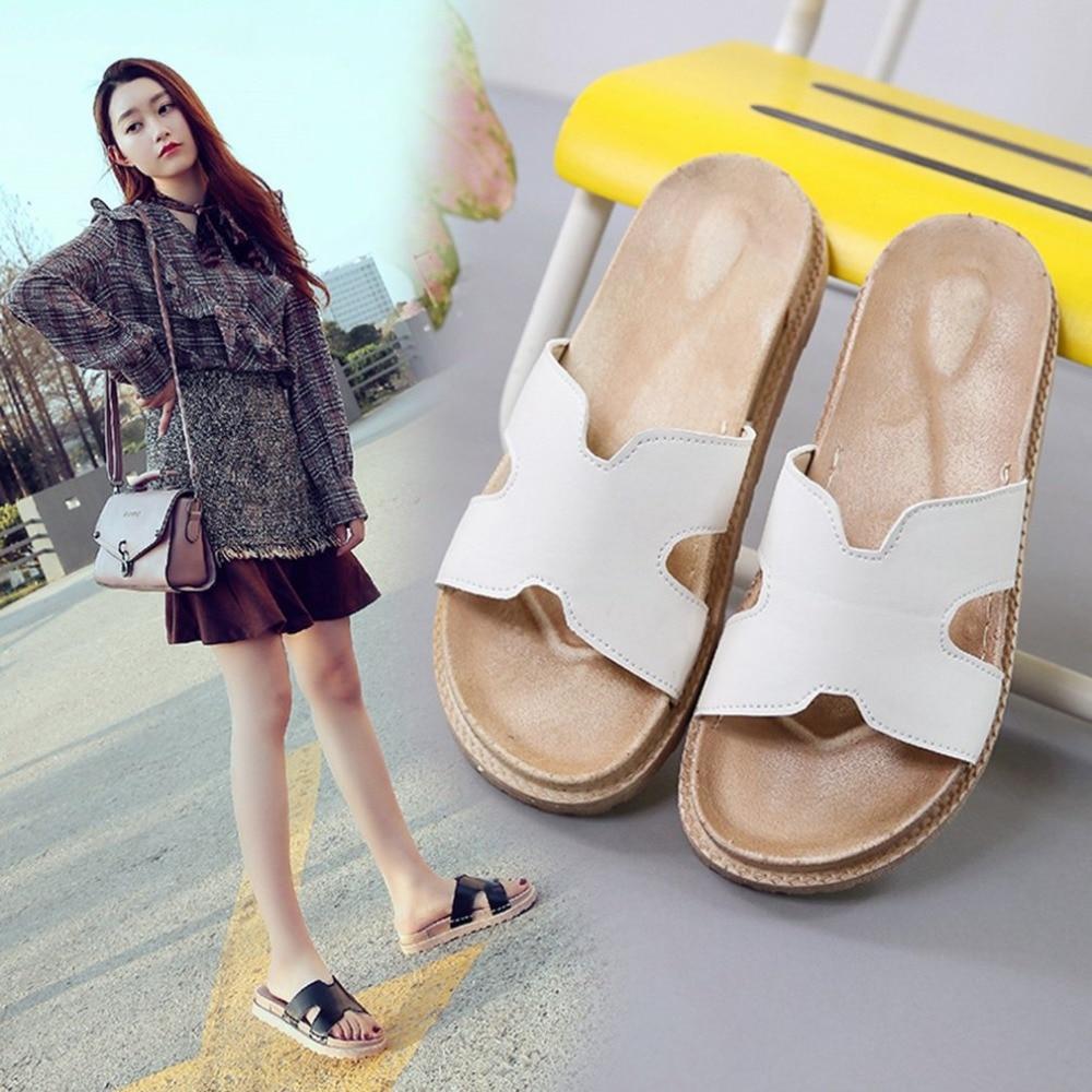 Новые модные летние дамские слипперы Повседневные шлепки женские черные Тапочки пляжные сандалии для прогулок женская обувь pantoufle femme
