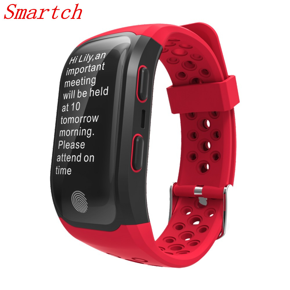 Smartch S908 GPS Smart Band Heart Rate Sleep Monitor Wristband Fitness Pedometer IP68 Waterproof Bracelet Watch Sports Tracker S 2017 newest s908 smart band gps bluetooth 4 2 heart rate ip68 waterproof sleep monitor pedometer smart bracelet for android ios