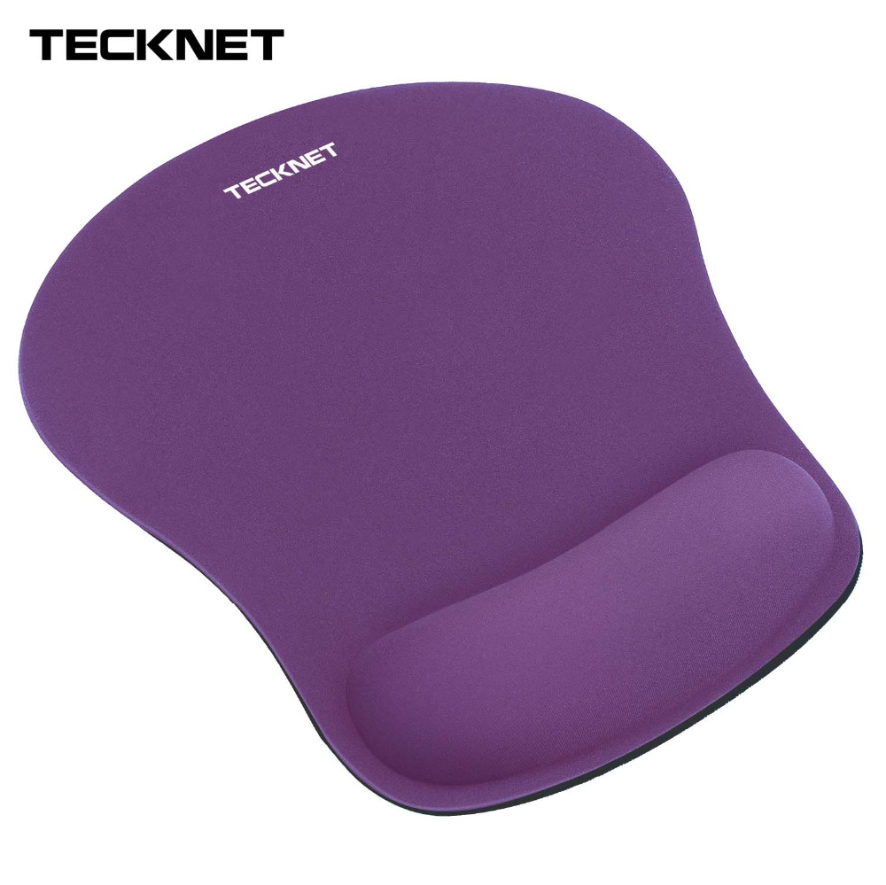 лучшая цена TeckNet Gaming Office Mouse Pad Mat Ergonomic Mousepad Build-in Soft Sponge with Gel Rest Wrist Support