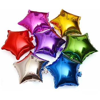 10 sztuk partia 10 cal pięcioramienna gwiazda folia balony na brzuszkowe ślubna dla dzieci urodziny dekoracje świąteczne dla dzieci balony globos tanie i dobre opinie July Forest 10 inch balloon Dom ruchome Ślub Powrót do szkoły THANKSGIVING Birthday party Graduation Chiński nowy rok
