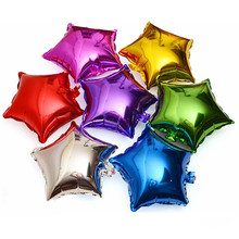 10pcs 10 inch Five-pointed star foil balloon baby shower children's birthday party wedding decor supplies kids balloons globos(China)