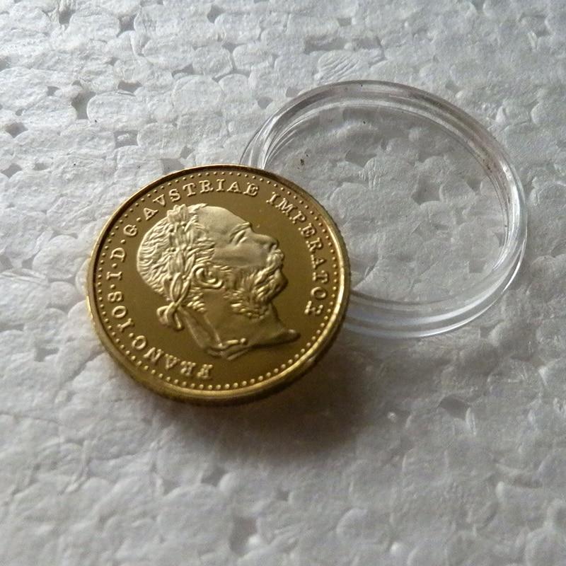 1 Ducats 1pcs/lot Gold replica Austrian 1915 ,Gold clad plated commemorative Coins