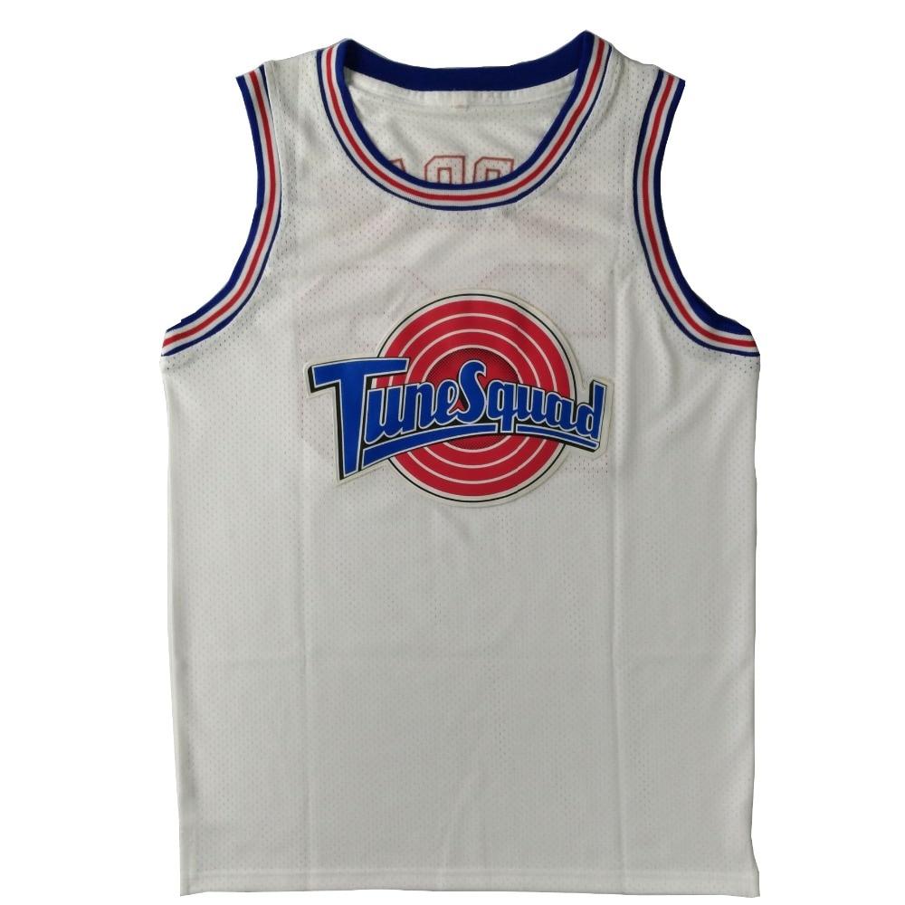 Space Jam #22 Bill Murray Jersey #1 Bugs Bunny Jersey #! TAZ Jersey WEIß Tune Squad LOONEY TOONES Basketball Trikots Genäht