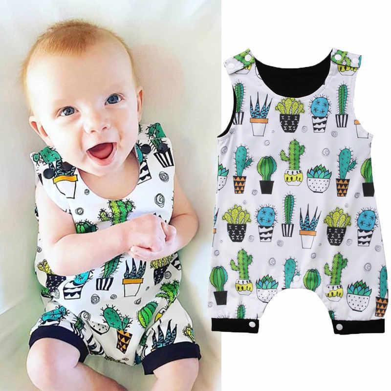 2505f6e09e7 ... Cute Cactus Print Newborn Infant Rompers Cotton Baby Clothing Kids Boy  Jumpsuit One-Pieces Harem ...