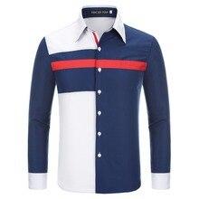 Новая мода горячая Распродажа бренд Весна мужская повседневная Высококачественная разноцветная комбинированная верхняя одежда мужская Тонкая Рубашка в Корейском стиле