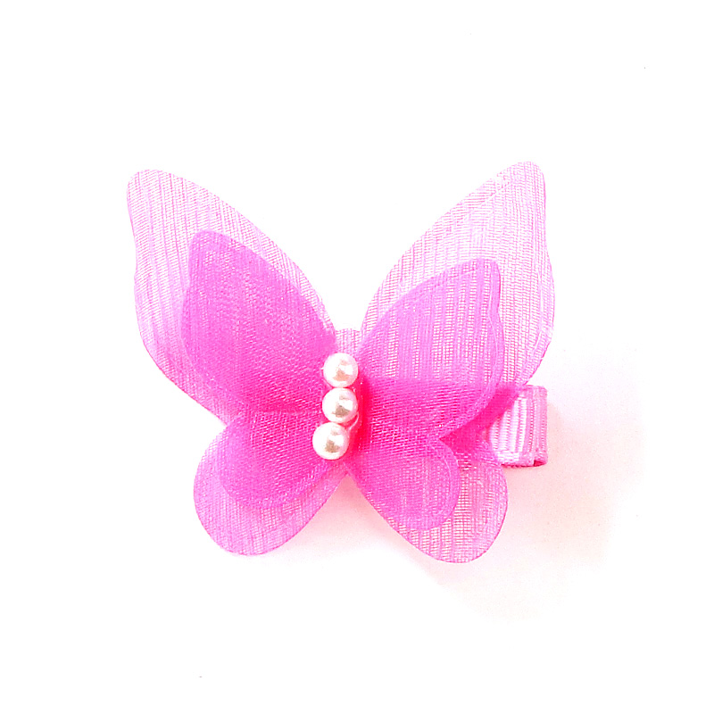 5 Pcs/lot Candy Color Bow Butterfly Hair Clips Girls' Hair Grips Kids Hairpin Headwear Fashion Accessories Pc003 #5