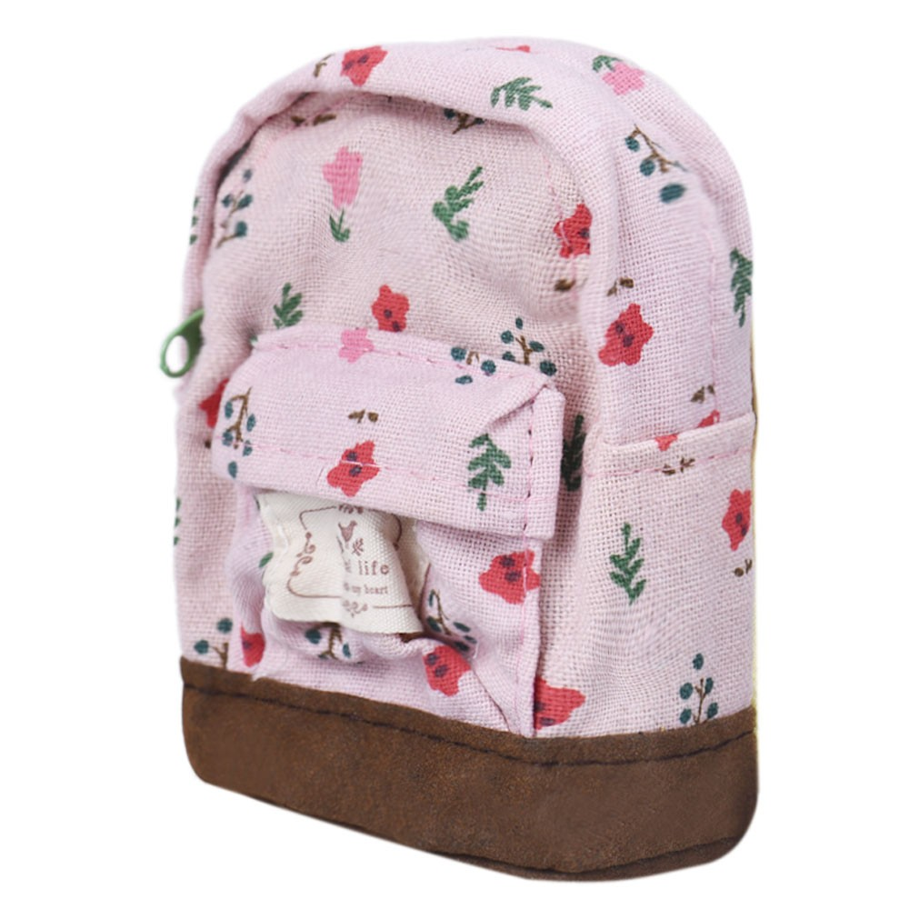 New Fashion Kawaii Fabric Canvas Mini Floral Backpack Women Girls Kids Cheap Coin Pouch Change Purses Clutch Bags Wholesale#C