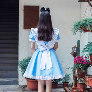 Image 5 - VEVEFHUANG Game Wonderland Party Cosplay Alice Costume Anime Sissy Maid Uniform Sweet Lolita Dress Halloween Costumes For Women
