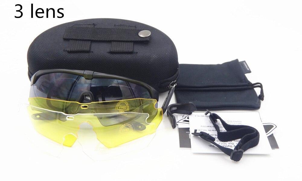 Gafas militares TR90 5 lentes polarizadas balístico Deporte Militar ... f42d3412cc55