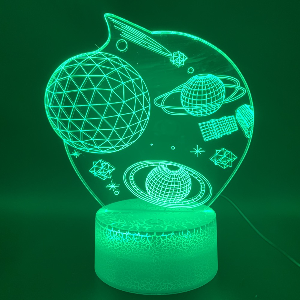 Novelty Light 3d Lamp Space Universe Star Planet Office Home Room Decorative Gift For Kid Children's 3d 3d Led Night Light Lamp