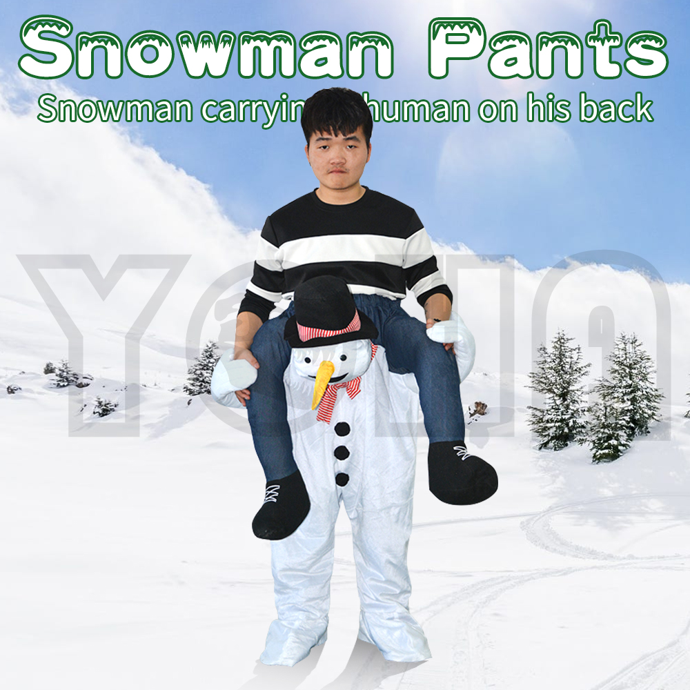 Christmas Holiday Snow Man Costume Inflatable Costumes Funny Party Dress Animal Cosply Halloween Costume for Adult