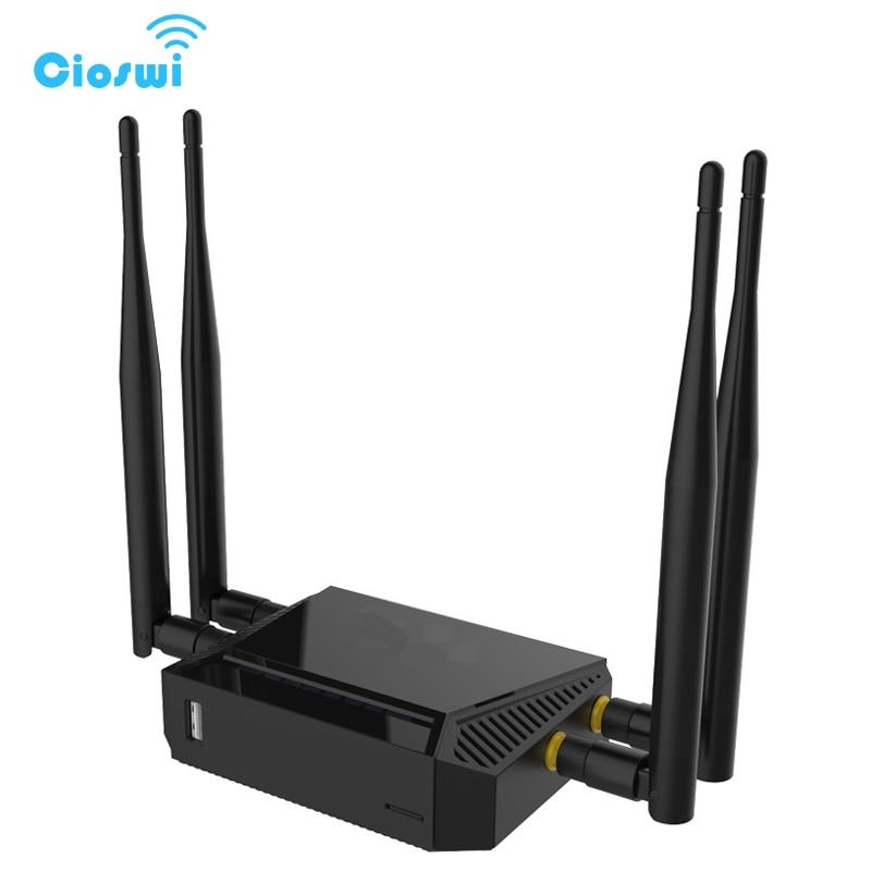 Routeur 3G 4G WiFi Modem avec emplacement pour carte SIM 128 mo de mémoire 300 Mbps 12 V LTE OpenWrt sans fil USB WiFi routeur réseau SMA connecteur - 4