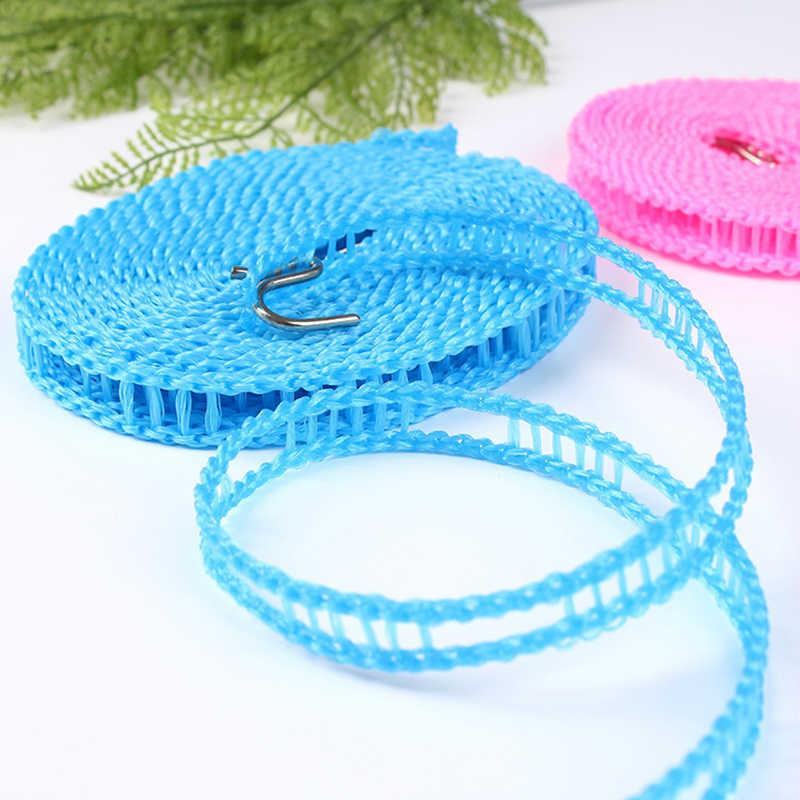 Sprzedaż losowy kolor 1 rolki 3/5 metrów bielizny suszarka do ubrań antypoślizgowe osłona przed wiatrem tkaniny wiszące liny