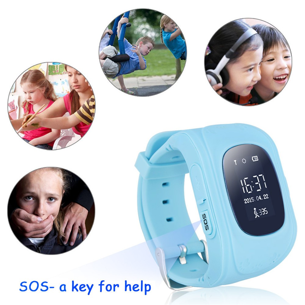 2016 Smart Kid Safe GPS Watch Wristwatch SOS Call Location Finder Locator Tracker for Kid Child Anti Lost Monitor Baby Gift Q5021