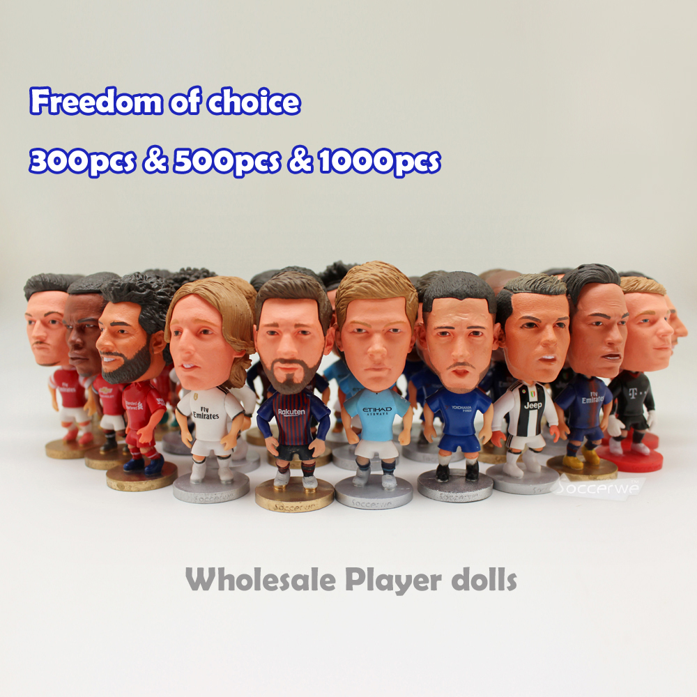 300PCS 500PCS 1000PCS Lots Soccerwe Football Basktball Player Star Dolls 2 5 Figurine Select list dolls
