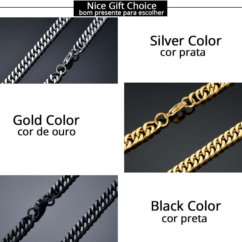Vintage dolga zlata verižica za moške verižica ogrlica Nova - Modni nakit - Fotografija 4