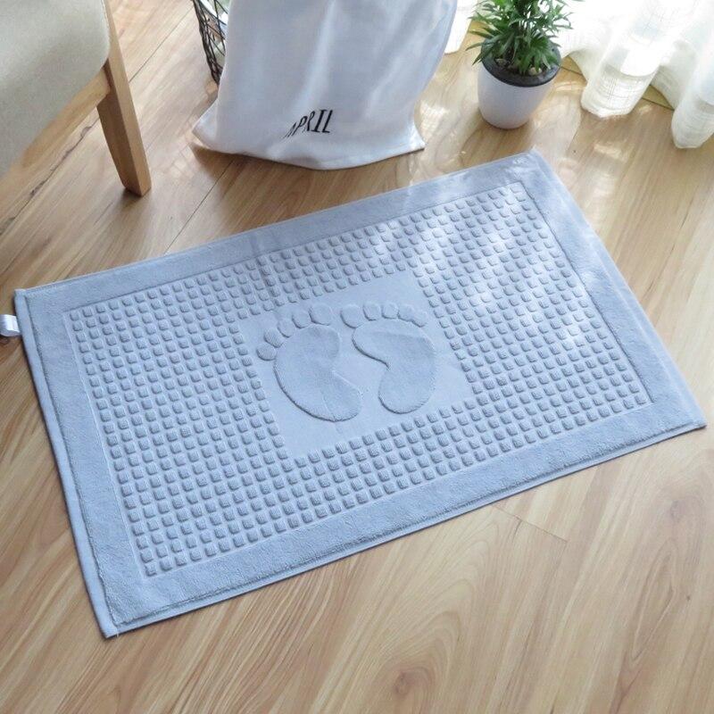 €12.94 37% de réduction|Empreinte de coton antidérapant bain hôtel tapis  salle de bain tapis cuisine paillasson chaise de bureau tapis de sol  coussin ...
