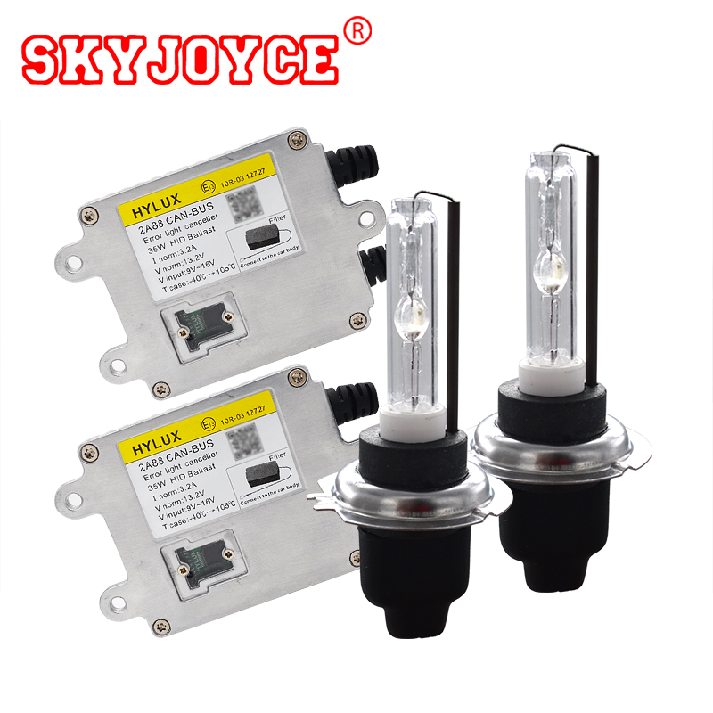 SKYJOYCE 35W Canbus HID Kit Hylux 2A88 HID Canbus Ballast 4300K 6000K 8000K Cnlight HID Bulb H1 H3 H7 H11 9005 9006 9012 D2H skyjoyce 55w 9012 hid xenon kit envision headlight 9012 bi xenon kit 4300k 5000k 6000k hir2 9012 dual xenon projector bulb 9012
