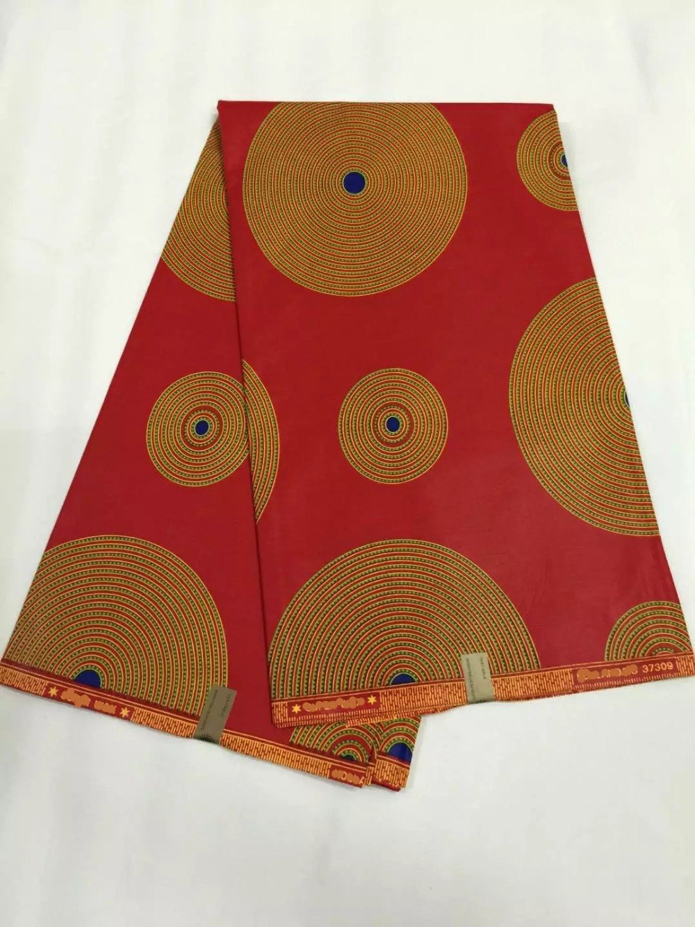 Afrian ethnic fabric for sale real wax red chocolate for Cloth material for sale