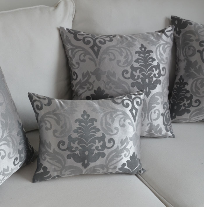Baroque style cushion cover silver pillowcase for sofa decorate
