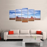 Modern Plain Under Blue Sky HD Spray Canvas Print Picture On the Wall Natural Landscape Pictures Artwork for Hotel Decoration