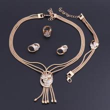 Oeoeos винтажные Женские Ювелирные наборы золотого цвета африканские
