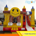 Inflatable Biggors Inflatable Jumping Boucer Castle Inflatable Trampolin With Smile Face For Sale