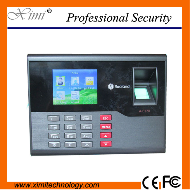 Good quality USB fingerprint + password biometric time attendance 2000 fingerprint userRFID employee attendance biometric time attendance fingerprint time recoorder time clock for office employee with usb support english language