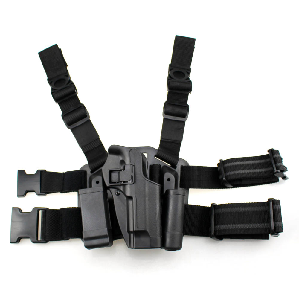 M92 Leg Holster Left Hand Tactical Paddle Thigh Belt Drop Pistol Gun Holster With Magazine Torch Pouch For Beretta M92 Shoes