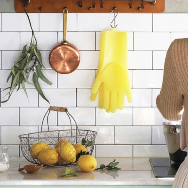 Food Grade Silicon Dish Washing Gloves 5