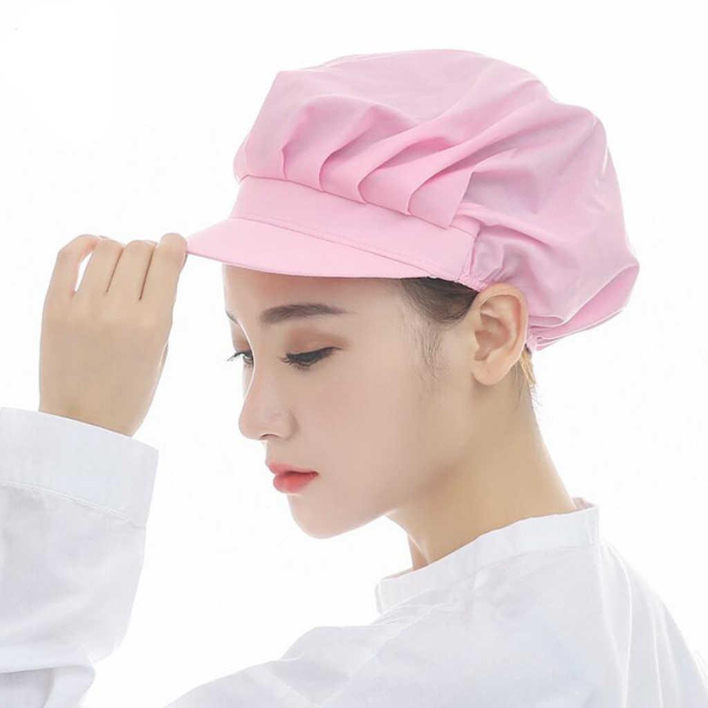 18 цветов для мужчин и женщин сетчатая Лоскутная шляпа шеф-повара дышащая ресторанная кухня рабочие ресторанные резиновые шапочки