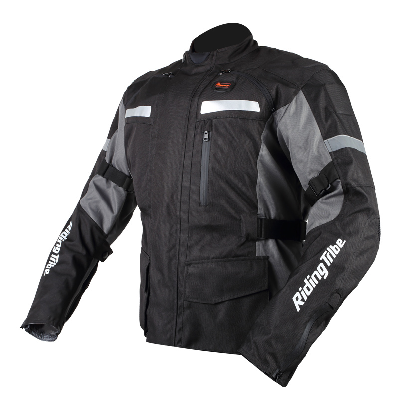 Winter Motorcycle Jacket Travel Reflective Protector Motocross Body Armor Protection Racing Jacket Clothing Protective Gear benkia motorcycle reflective jersey sports racing jacket winter warm windbreaker with removable hood motocross wind coat