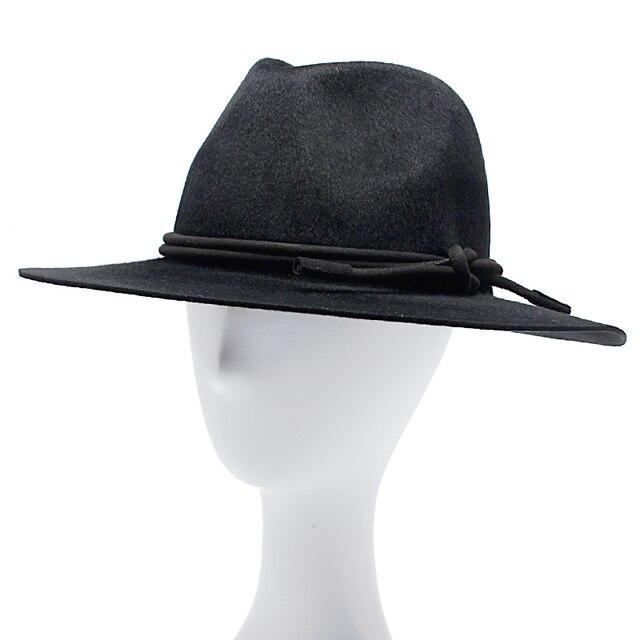 Unisex 100% Lana Fedora Sombreros Para Las Mujeres Y de Los Hombres Otoño  Invierno Vintage d610a3a6263