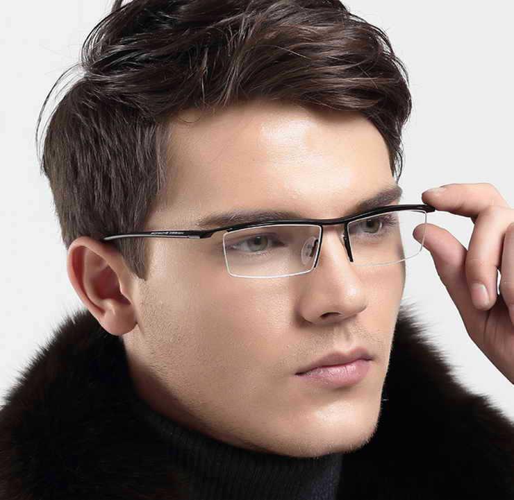 2015 Fashion brand glasses frame 5Colors P8189 semi rimless Optical ...